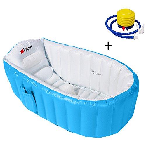 Samber Baignoire Gonflable Bébé pour Douche Bassin Enfant Bain Piscine Gonflable Siège de Baignoire Portable Voyage avec Pompe à Pneumatique