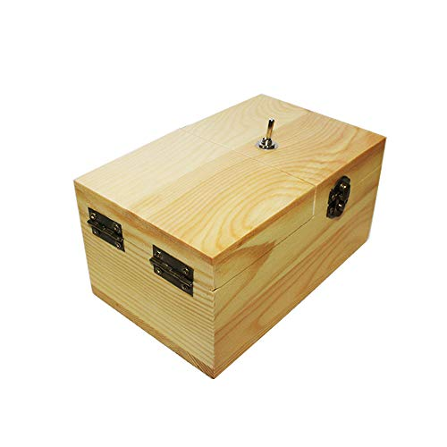 DE Useless Box,Turns Itself Off in Box Alone ,Handmade Fun Wood Boxes ,Machine Fully Assembled in Box