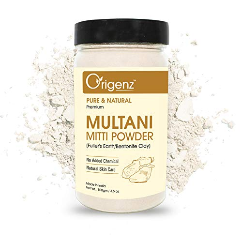 Origenz Premium Multani Mitti Powder to remove acne , pimples (Fuller's Earth/Bentonite Clay) 100gm