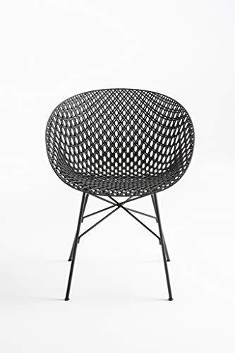 Kartell 583409 Stuhl Matrix schwarz L35 x T55 x H78