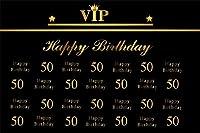 HD 7x5ft大人男性女性50歳の誕生日パーティーの背景カスタマイズ可能なVIP父父母yft歳fith ieth bdayお祝い写真背景写真スタジオの小道具