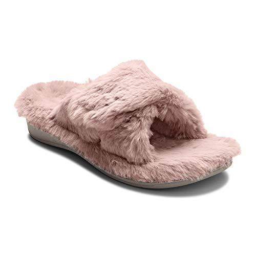 Vionic Damen Slipper Relax Plüsch, Pink - Blush - Größe: 41 EU