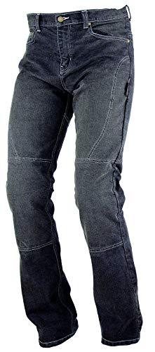 Preisvergleich Produktbild A-Pro Ladies Womens Motorbike Motorcycle Stretchy Denim Jeans With CE Armour Black 28
