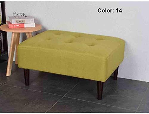 For Sale! Square Footstool, Cushion Linen Cotton Sofa Change Shoe Bench (Color : T14, Size : 60 x60 x40cm)