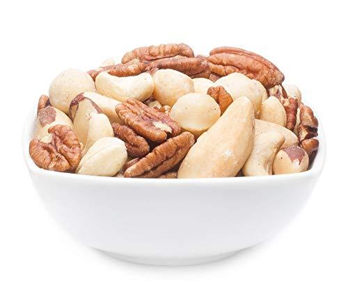 1 x 3kg Fitness Nussmischung mit Cashew Macadamia Pekannuss Paranuss pur ohne Zuckerzusatz salzfrei vegetarisch vegan glutenfrei laktosefrei