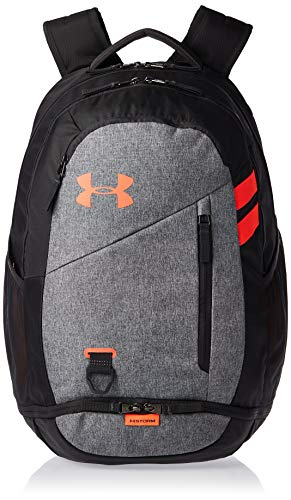 Under Armour Hustle 4.0, accesorio deportivo, mochila para portátil resistente al agua unisex, gris (Jet Gray/Jet Gray/Beta (010)), Taglia unica