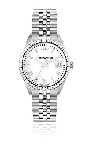 Philip Watch Damen-Armbanduhr Caribe Analog Quarz Edelstahl R8253597515