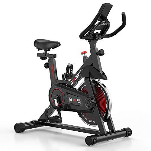 ZLMI Bicicleta Fitness Bicicleta Estática, Pantalla De Alta Definición, Control En Tiempo Real De La Pista De Movimiento, Soporte Multifunción, Conexión Estable A Teléfonos Móviles Y Tabletas