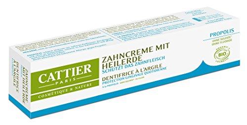 Cattier Zahncreme mit Heilerde und Propolis, zertifizierte Naturkosmetik, 3er Pack (3 x 75 ml)