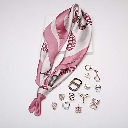 Sjaal voor dames, vierkant, oversized, zakdoek, veer, retro, temperament, eenvoudige vakantie, cadeau, ademend, dun roze