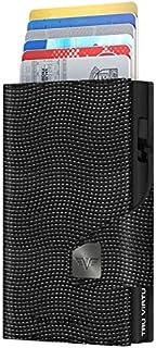 TRU VIRTU® Tarjetero Click & Slide con Monedero Lizard Negro/Negro I Estuche para Tarjetas de crédito I con protección RFI...