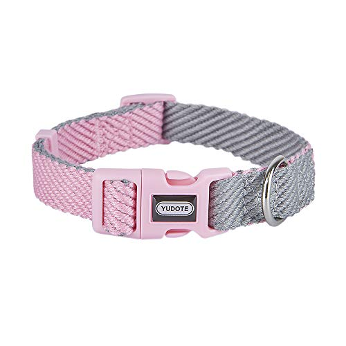 YUDOTE Soft Lightweight Dog Collar Adjustable, Non-irritating Dog Collar for Puppies and Small Medium Large Dogs with Sensitive Skin