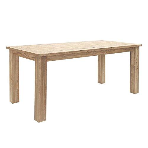 OUTLIV. Oxford Gartentisch 180x90 cm aus recyceltem, FSC zertifiziertem Teakholz, jeder Tisch ist einzigartig