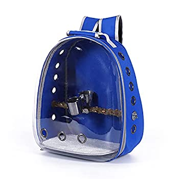 Sac à dos pour animal de compagnie - En tissu Oxford transparent - Portable et confortable - Pour le transport et le transport - Bleu - Avec réservoir d'eau
