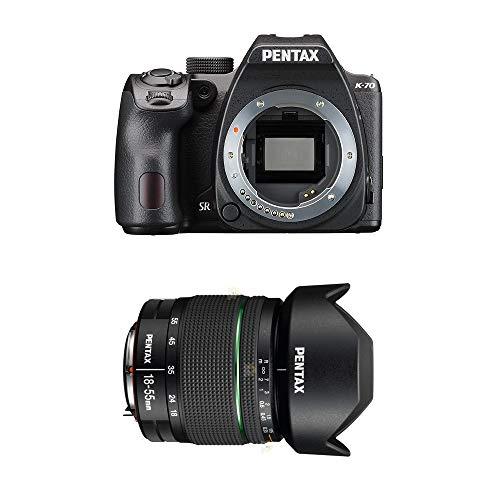 Pentax K-70 Fotocamera con Obiettivo DA L WR 18-55 mm, Nero