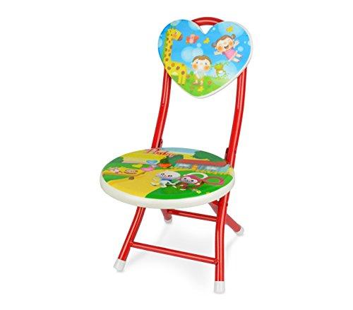 MEDIA WAVE store 211649 Sediolina per Bambini Apri e Chiudi Colori di Colore Rosso e Fantasie assortite