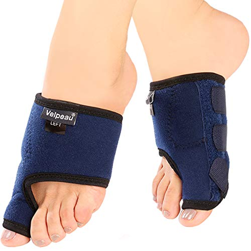 Velpeau Bunion Corrector (Pair) - Orthopedic Toe Separators, Big Toe Straightener Brace, Bunion Splints for Hallux Valgus, Hammer Toe, Day or Night Support for Women & Men (Large)