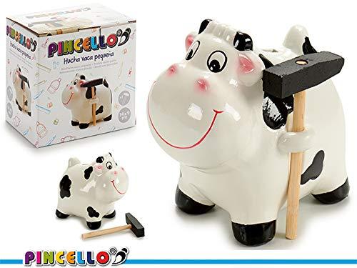 Dream Hogar Hucha Vaca Ceramica con Martillo