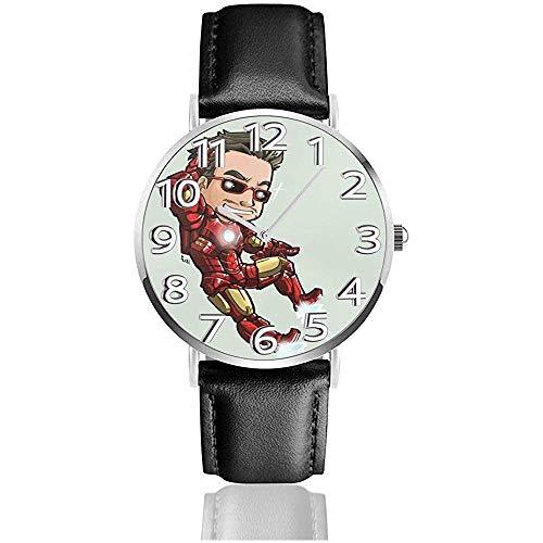 Ser Disfrazado Reloj de Pulsera analgico de Cuarzo, Reloj de Cuero Lindo de Dibujos Animados Unisex