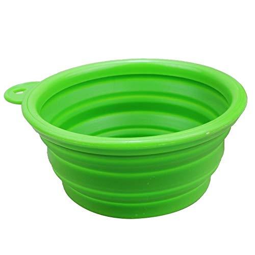Tuzi Qiuge Pet Food Bowl, Tragbare Silikon-Lebensmittel-Feeder-Schüssel for Katzen Hunde, Reise und Unterhaltung, Haustierwasserbehälter