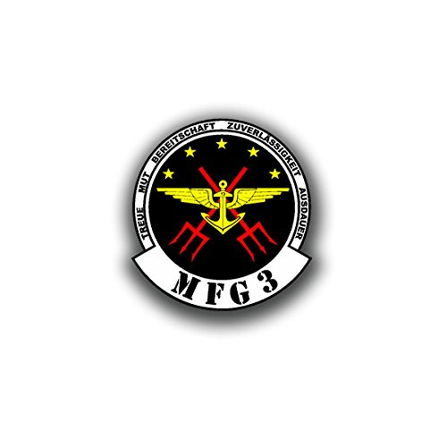 Copytec Aufkleber/Sticker -MFG3 Marinefliegergeschwader 3 Bundeswehr Marineflieger Marine Wappen Abzeichen 7x7cm #A3097