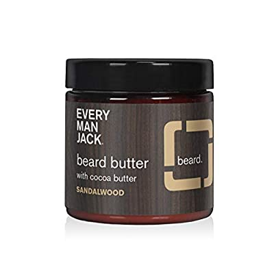 Every Man Jack Beard Butter - Sandalwood   4-ounce - 1 Jar   Naturally Derived, Parabens-free, Pthalate-free, Dye-free, and Certified Cruelty Free