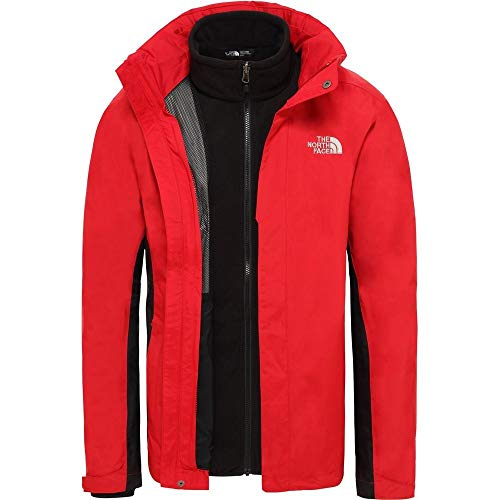Herren the north face evolution ii triclimate jacke red tnf rot / schwarz tnf xl