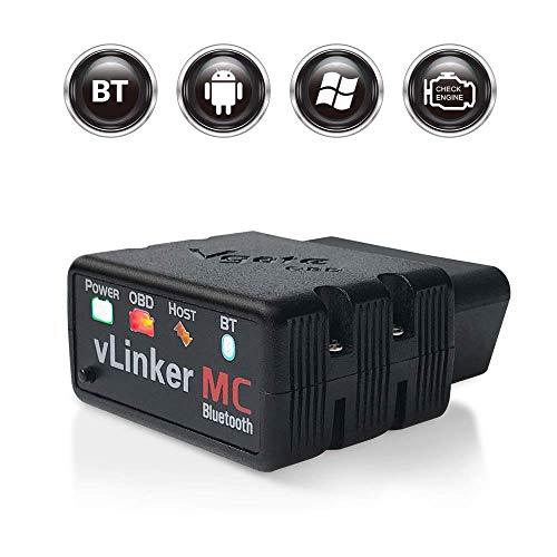 TONWON Vgate vLinker MC Bluetooth OBD2 OBDII Scanner Diagnostico per Android e Windows (Bluetooth 3.0)