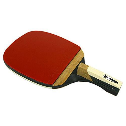 JISAM TRADE Champion XIOM M8.0P Ping Pong Racket Table Tennis Penholder Type for Professional + Key Ring