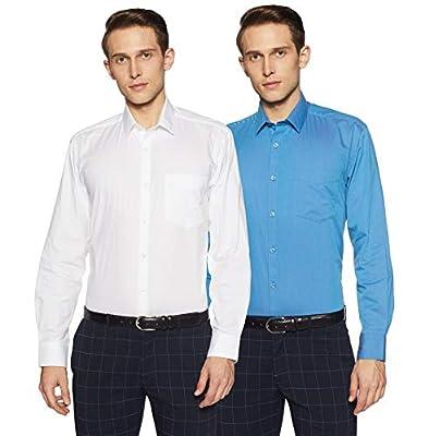 Amazon Brand - Symbol Men's Solid Regular Fit Formal Shirt (Pack of 2)