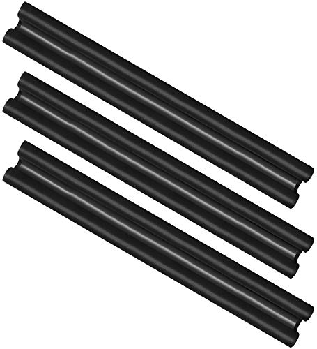 com-four® 3X Burlete para Puertas - Cojines de Microfibra - Burlete Aislante Doble Sellado - Protección contra Corrientes de Aire y Ruido - 86 cm (003 Piezas)
