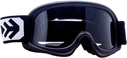 ARMOR Helmets AKC 49 Kinder Schutz-Brille, Motorrad-Helm, Schwarz
