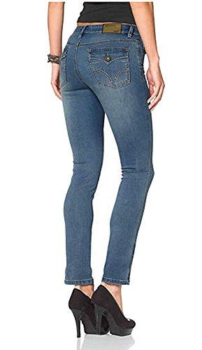 Arizona Damen Jeans 7/8 Jeanshose Skinny Mid Waist (42, Light Blue)