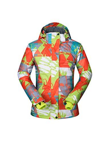 ZLJKK Veste De Ski Femmes Hiver Manteau De Neige Vêtements De Ski Femme Coupe-Vent Imperméable Chaud Ski Et Veste De Snowboard,Ju Huang LAN Che,M