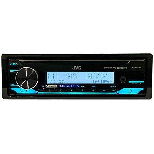 JVC KD-X37MBS Car & Marine Digital Media Receiver With Bluetooth, USB, SiriusXM Ready, Compatible with Amazon Alexa, Conformal Coated PCB