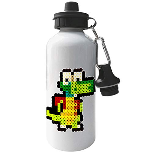 Croc 8bit Pixel Character Bead Aluminium Sports Water Bottle
