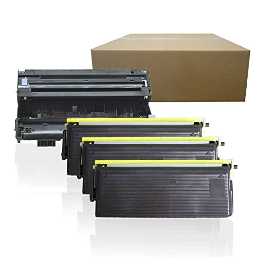 Inktoneram Compatible Toner Cartridges & Drum Replacement for Brother TN570 TN540 DR510 DR-510 TN-570 TN-540 HL5100 HL-5130 HL-5140 HL-5150D HL-5150DLT HL-5170DN HL-5170DNL MFC-8220 (Drum,3-Toner,4PK)