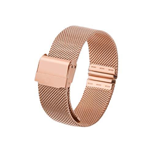 Funnyrunstore 12mm 14mm 16mm 20mm cinturino orologio cinturino in metallo magnetico cinturino in acciaio inossidabile cinturino a sgancio rapido cinturino per orologio DW (oro rosa; 20mm)