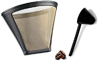 Replacement Permanent Coffee filter GTF-4 Gold Tone Filter for DCC-450 Coffee Maker with Large Coffee Scoop