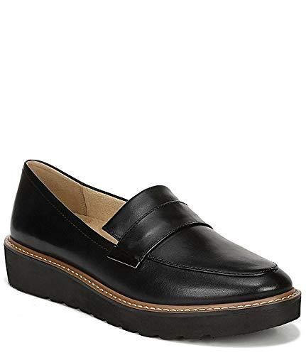 [ナチュライザー Naturalizer] シューズ 28.0 cm スリッポン・ローファー Adiline Leather Wedge Loafers Black Leat レディース [並行輸入品]