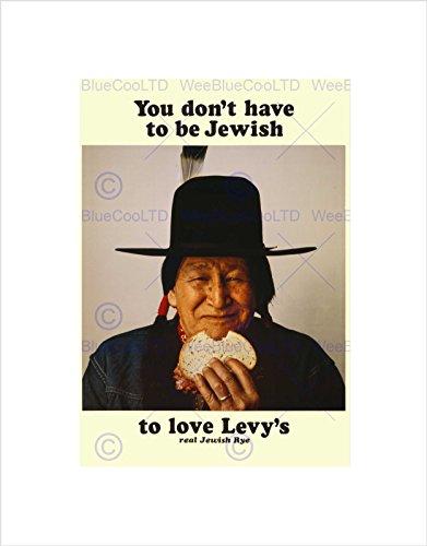 Wee Blue Coo Reklama Food Levy chleb żytni rdzenny amerykański żydowski obraz na ścianę