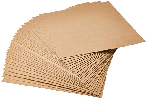 Medium Weight Chipboard Sheets, 12-Inch by 12-Inch