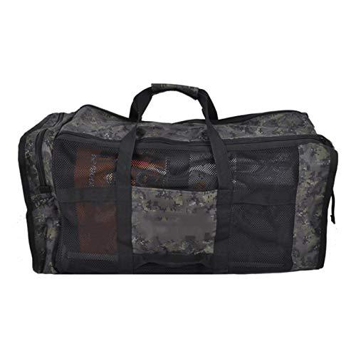 SALUTUYA Bolsa de Equipo Bolsa práctica portátil, para Buceo(Forest Camouflage, 105L)