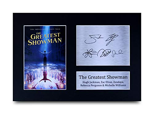 HWC Trading The Greatest Showman A4 Senza Cornice Firmato Regalo Visualizzazione delle Foto Print Immagine Autografo Stampato per Hugh Jackman Gli Appassionati di Cinema