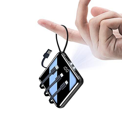 Powerbank 10000mah Große Kapazität Externe Akkus LCD Display Batterie Pack 2 Eingängen 5 Ausgängen Tragbares Ladegerät Handy Akkupack USB C Power Bank für Smartphone iPhone Samsung Huawei ipad…