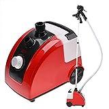 Joycelzen - Plancha de vapor para ropa, cepillo de vapor vertical profesional, ideal para trajes y tejidos, 1700 W, 11 posiciones, color rojo