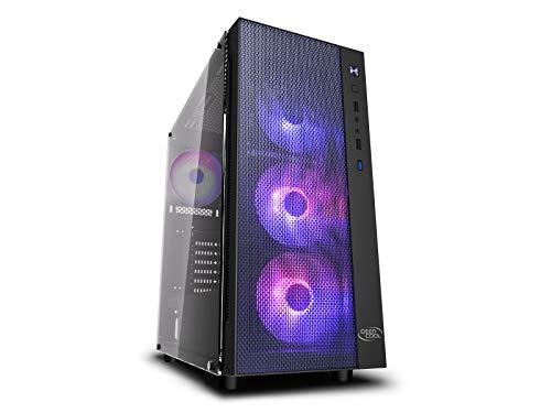 DEEP COOL MATREXX 55 Mesh Add-RGB 4F, PC Caja, Panel Frontal de Rejilla, Preinstalada 4 Ventiladores de A-RGB.