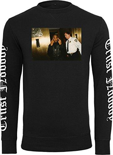 Mister Tee Herren Tupac Trust Nobody Crewneck Sweatshirt, Black, M