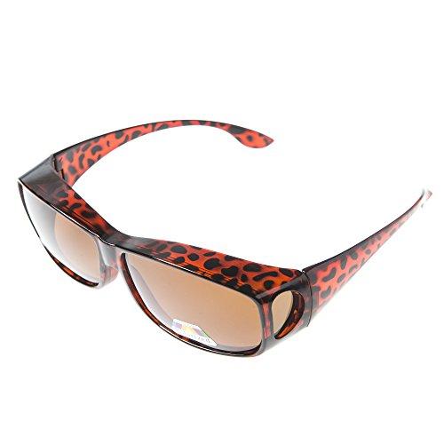 Polarisierte Überziehbrille von ASVP Shop®, Sonnenbrille zum Tragen über der eigentlichen Brille,geeignet für das Autofahren Gr. Medium, türkis