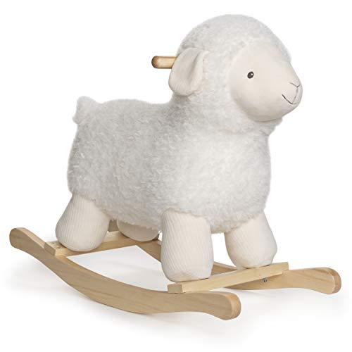 GUND Baby Lamb Rocker with Wooden Base Plush Stuffed Animal Nursery, Cream, 21.5'